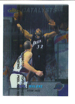 Karl MALONE 1999-2000 Topps Finest Short Print Catalysts Card Utah JAZZ w peel - $1.99
