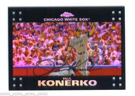 Paul Konerko 2007 Topps Chrome Refractor Parallel Chicago White Sox Card 18 - $1.99