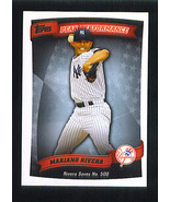 Mariano RIVERA 2010 Topps PEAK PERFORMANCE Insert Card New York YANKEES - $1.99