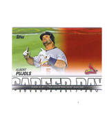 Albert PUJOLS 2012 Topps CAREER DAY Insert Card St. Louis CARDINALS - $1.99