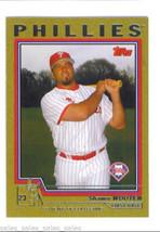 Shawn WOOTEN 2004 Topps GOLD Parallel Card 561 477/2004 Philadelphia PHILLIES - $1.99