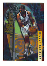 Hakeem Olajuwon 1997 98 Topps Chrome Seasons Best Insert Card Houston Rockets - $2.99