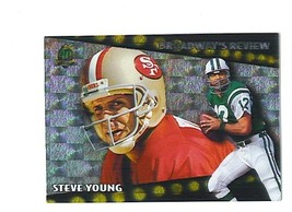 Steve Young Joe Namath 1996 Topps Broadways Review Insert Card 49ers Jets - $2.49