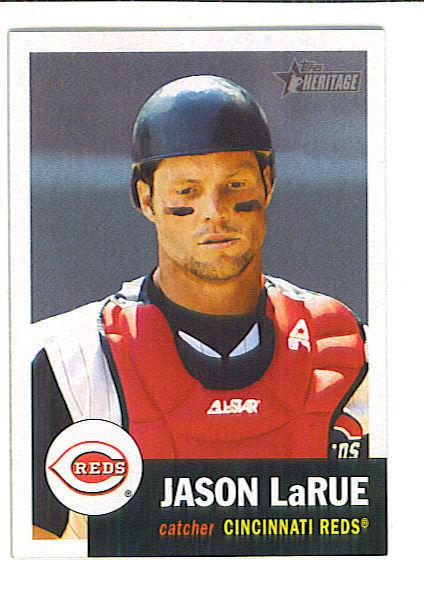 Jason LARUE 2002 Topps Heritage SHORT PRINT Card 376 Cincinnati REDS