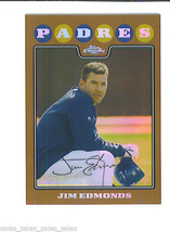 Jim EDMONDS 2008 Topps Chrome COPPER Parallel Card 56 274/599 PADRES - $4.59