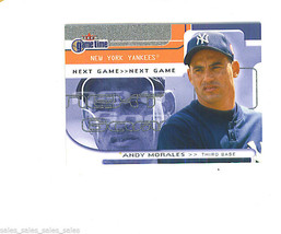 Andy MORALES 2001 Fleer Game Time SHORT PRINT Card 111 246/2000 New York... - $4.54