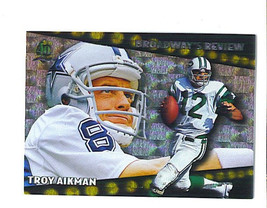 Troy AIKMAN 1996 Topps BROADWAY'S REVIEW Insert Card Joe NAMATH Broadway... - $2.99