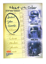 Derek JETER Jason GIAMBI Alfonso SORIANO 2003 Platinum HEART OF THE ORDE... - $5.99