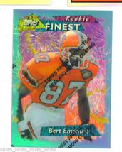 Bert Emanuel 1995 Topps Finest Refractor Parallel Atlanta Falcons With Peel - $5.99