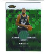 Vin BAKER 2002-03 Finest SHORT PRINT GAME WORN JERSEY Crd 642/999 Boston... - $9.99