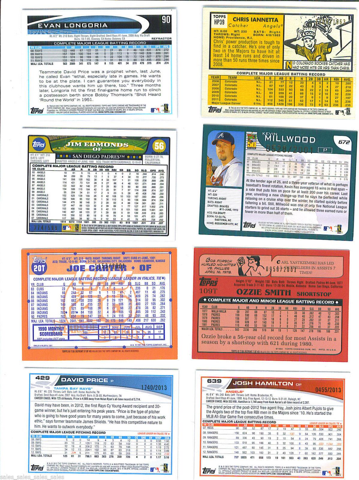 Jim EDMONDS 2008 Topps Chrome COPPER Parallel Card 56 274/599 PADRES