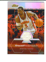 Shareef Abdur Rahim 2002 03 Finest Short Print Game Worn Jersey Refractor 81/250 - $16.89