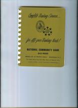ORIGINAL 1968 NATIONAL COMMUNITY BANK Personal Directory Ridgefield New ... - $19.99