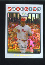Pat Burrell 2008 Topps Chrome Refractor Parallel Card 160 Philadelphia Phillies - $1.79