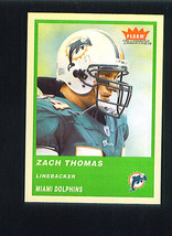 Zach THOMAS 2004 Fleer Tradition GREEN Parallel Card 176 Miami DOLPHINS - $1.99