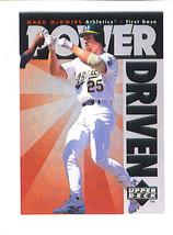 Mark McGWIRE 1996 Upper Deck POWER DRIVEN Insert Card Oakland A's As - $12.99