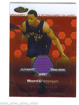 Morris PETERSON 2002-03 Topps Finest SHORT PRINT GAME WORN JERSEY Card 1... - $9.99