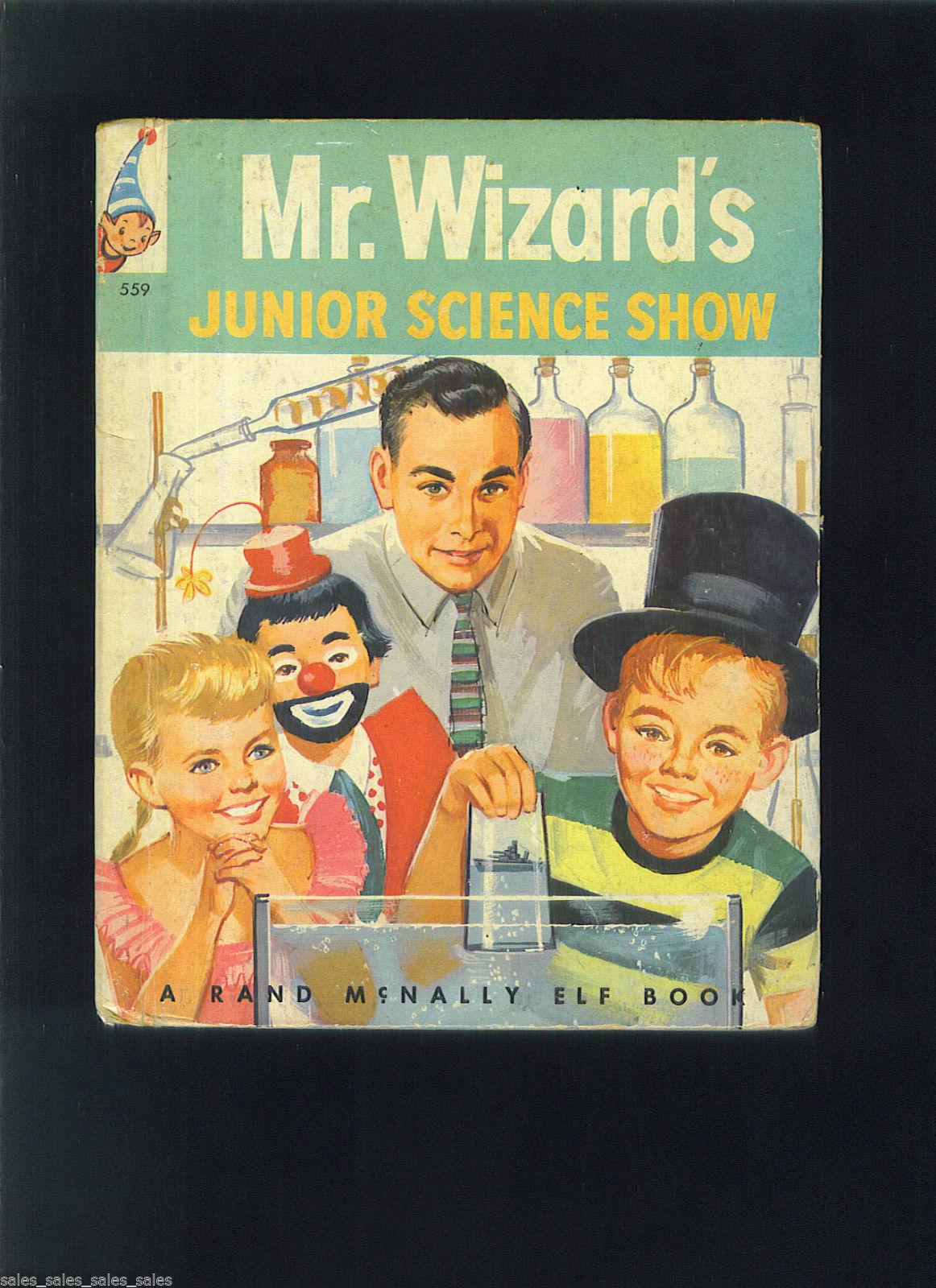 Mr. WIZARD'S Junior Science Show 1957 Rand Mcnally Book Don HERBERT Mr. WIZARD