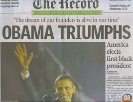 Barack OBAMA TRIUMPHS Org 2008 Historic Election Newspaper First Black P... - $9.99