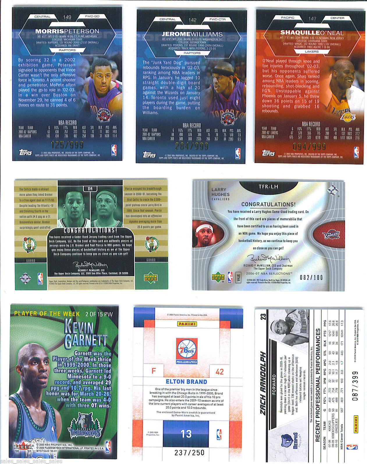 Morris PETERSON 2002-03 Topps Finest SHORT PRINT GAME WORN JERSEY Card 125/999