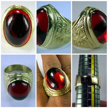 Very Rare! Holy Magic Red Tapayanak Naga Eye Ring Rich Thai Buddha Amule... - $19.99