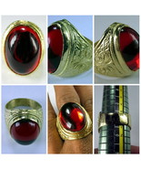 Very Rare! Holy Magic Red Tapayanak Naga Eye Ring Rich Thai Buddha Amule... - $19.99