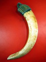 Kiewsuer Pendant Buddha Hindu Tiger Canine Tooth Fang Teeth, Not Real Tiger Bone - $19.99