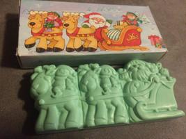 Vintage Avon Jolly Reindeer Snap Apart Soaps Set of 3 Snap Apart Soaps N... - $14.99