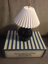 Vintage Avon Ming Blue Lamp Field Flowers Foaming Bath Oil 5 oz New in Box - $14.99