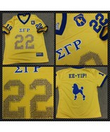 SIGMA GAMMA RHO short sleeve Football jersey Go... - $54.15