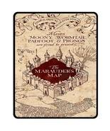 "Harry Potter The Marauders Map Bed Throw Fleece Blanket 50""X60""-Medium - $45.00"