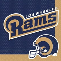 Los Angeles Rams NFL Pro Football Sports Banquet Party Paper Luncheon Napkins - $8.17