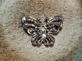 Cookie Lee Autumn Butterfly Brooch - Item #25174 - Genuine Crystal, New! image 3