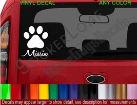 Cat Dog Paw  Decal Sticker CUSTOM cats kitten pets rescue puppy decals pet NAME - $5.37