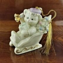 LENOX 2001 Annual Teddy's Sleigh Ride Teddy Bear Christmas Ornament - $19.95