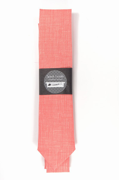 Primary image for Coral necktie - Wedding Mens Tie Skinny