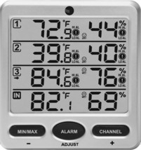 Wireless Indoor/Outdoor 8-Channel Thermo-Hygrometer, Console Only - $30.22