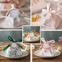 POPIGIST® 100PCS/Lot Creative Style Leaves Pink Floral Triangular Weddin... - $66.35