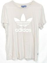adidas Originals Women's Boyfriend Cream Off-White Trefoil T-Shirt Size S image 1