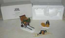 Vtg Department 56 Thatchers (3 Pc) Christmas Heritage Village Accessory in Box - $17.82