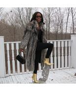 Designer Jerry Sorbara Full Length Silver fox Fur coat Jacket  Stroller ... - $2,299.00
