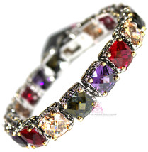 Beauty for Ashes Multi Color Twotone Throne Room Chunky Tennis Topaz CZ ... - $220.50