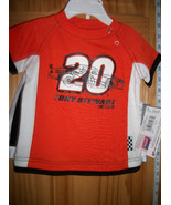 Racing Nascar Baby Clothes 12M Tony Stewart #20 Car Outfit Top 2 Pc Shor... - $18.99