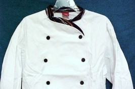 Dickies Executive Chef Coat White Stripe Trim CW070303PAS Size 36 Disc S... - $25.45