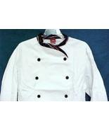 Dickies Executive Chef Coat White Stripe Trim CW070303PAS Size 36 Disc S... - $25.45