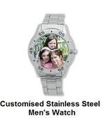 Customised Stainless Steel Men's Watch - $33.90