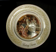 Vintage Avon Betsy Ross American Founding Fathers Collectible 1973 Plate... - $29.37