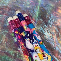 8x Assorted Vintage Lisa Frank Pencils Unsharpened 80s 90s Era Retro Throwback image 2