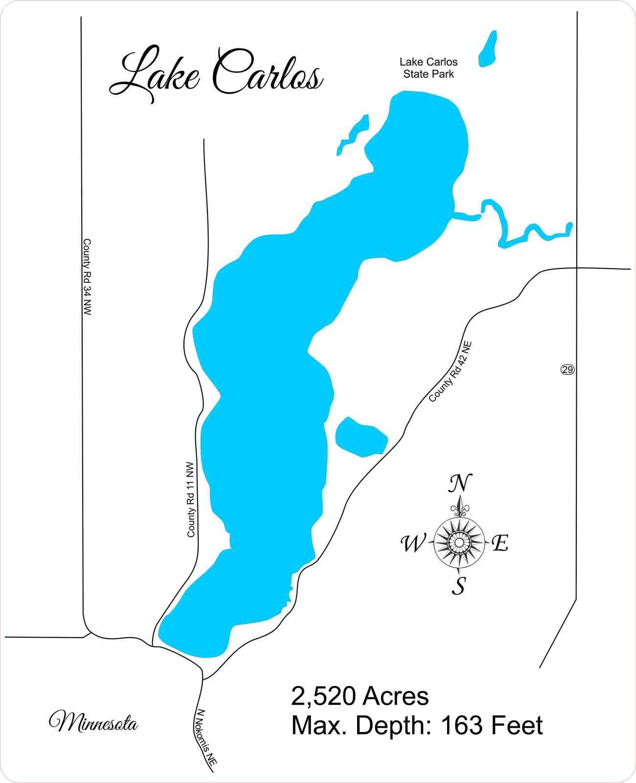Personalized - Lake Carlos, Minnesota - Wood and 19 similar items on