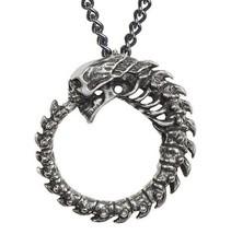 Alchoboros Pendant Skull Spine Omega Ouroboros Oneness Alchemy Gothic P8... - $19.95